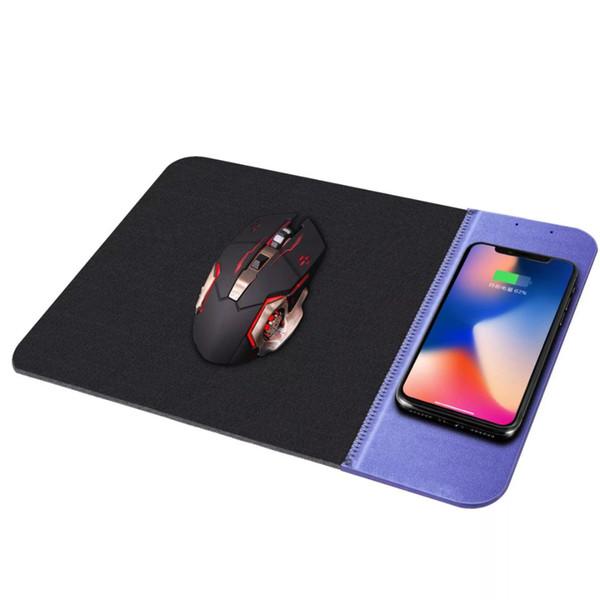 Квадратный резиновый коврик для мыши подходит для всех мобильных телефонов стандарта QI, сверхтонкое беспроводное зарядное устройство Коврик для мыши
