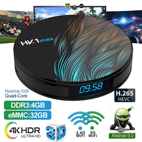 4K ultra Smart TV RK3328 4 Go 64 Go HK1 MAX Android 9.0 BOX Télévision Lecteur multimédia en streaming tv box HK1MAX pk TX6 H96 max