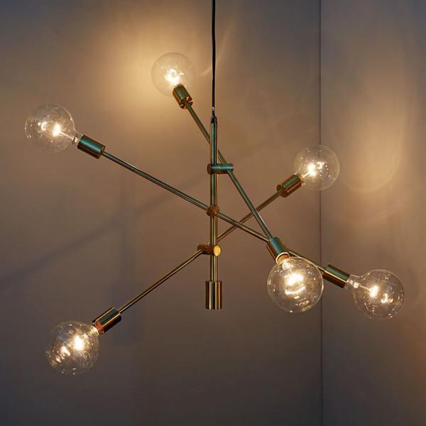 Modern asılı lamba işık LED yemek yatak odası yatak odası fuaye yuvarlak cam top siyah altın nordic basit modern kolye ışık lamba