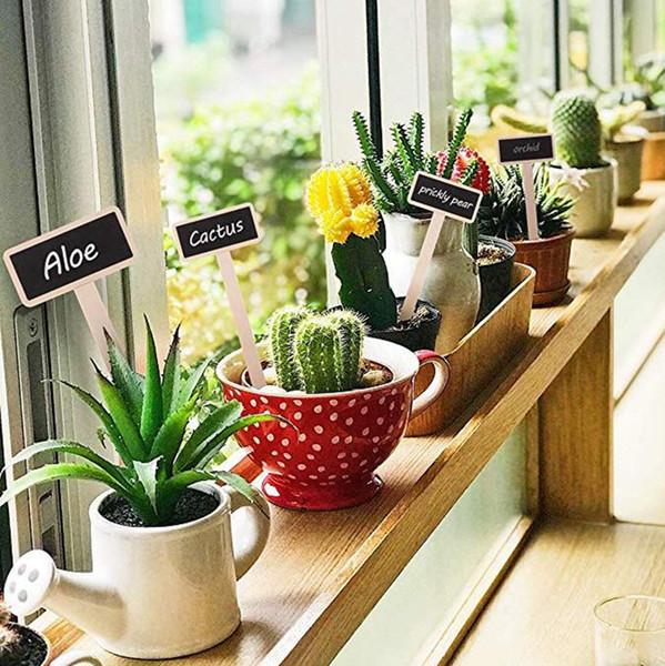 Mini tableau en bois Creative Message Blackboard Signes pour Jardin Fleurs et plantes Tags Maison Décorations De Jardin