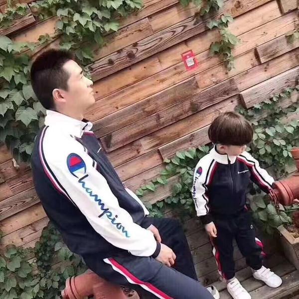 Champion Kids Designer Clothes Marque Garçons Filles Vêtements Costumes Enfants Vêtements Ensembles Automne Velours Veste Pantalon Deux Pièces Survêtements 821X3.