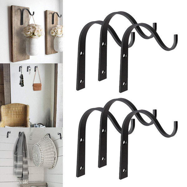 best selling Economical Iron Hanger Wall Hooks for Hanging Lantern Planter Coat Rustic Home Decor ds99