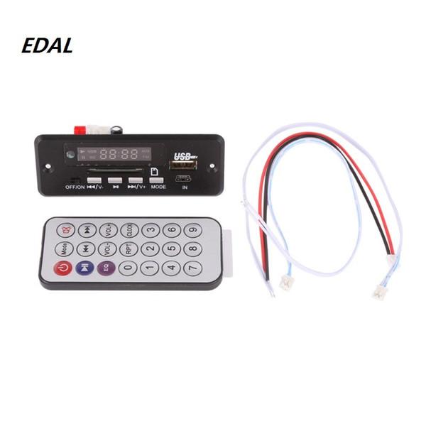 Плата декодера MP3 Красный цифровой дисплей LED USB TF Модуль беспроводной связи Беспроводной аудио модуль Пульт дистанционного управления автомобилем