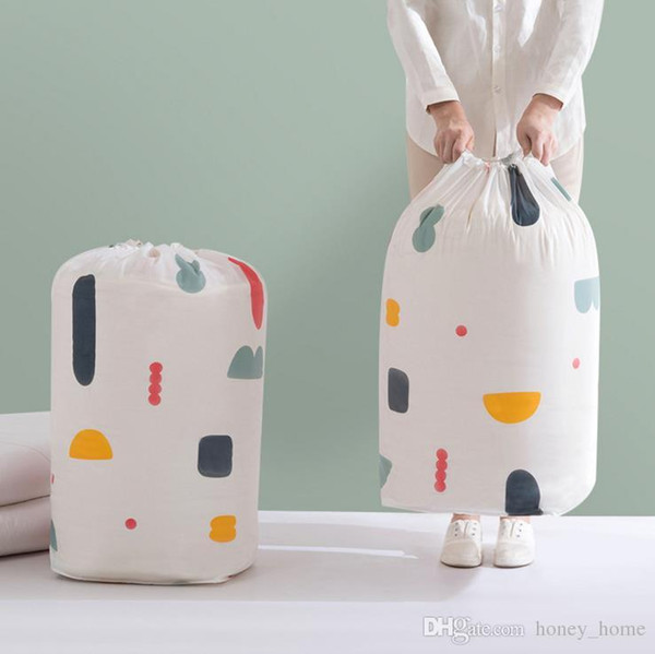 Factory price cotton drawstring bag candy holder quilts clothes storage gift bag 70*32cm 90*45cm bag
