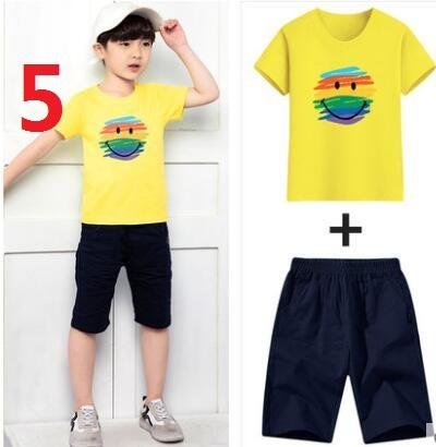 HOT SELL 2019 New Style Children's Clothing For Boys And Girls Sports Suit Baby Infant Short Sleeve Clothes Kids Set 2-7 Age