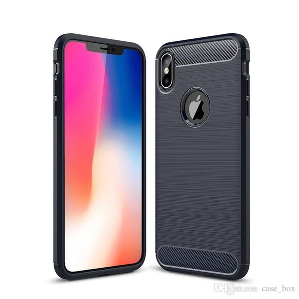 Soft TPU Carbon Fiber Case for iphone 6 6s 7 8 Plus X Xs Max XR Shockproof Cover