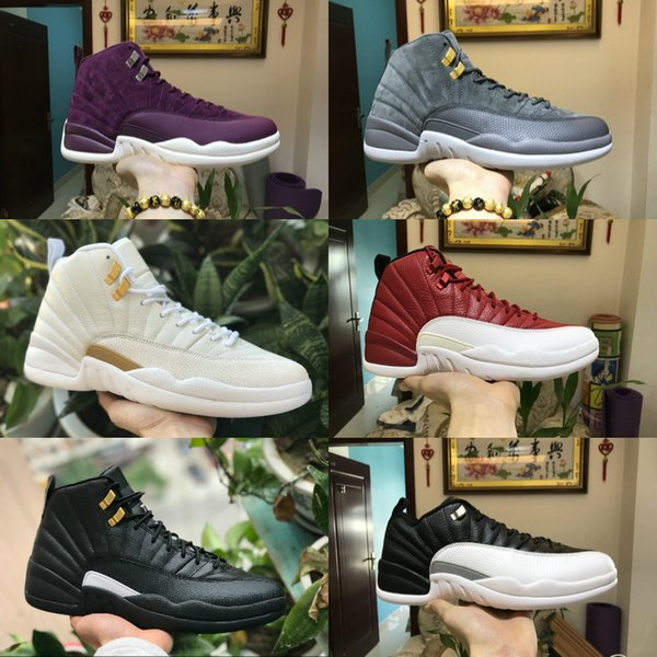 2019 New 12s Gym Red WNTR OVO Taxi Cny Mens Basketball Shoes Michigan Bulls Flu Game UNC French Blue Sneaker Trainers Fashion Sports Shoes