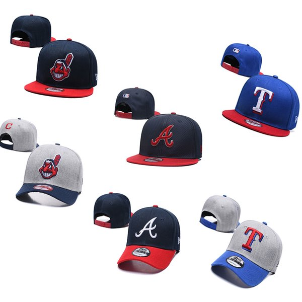 2019 Mens & Womens baseball cap Cleveland # Indians Atlanta # Braves Texas # Rangers baseball Hats Snapbacks Sports designer Hats Caps