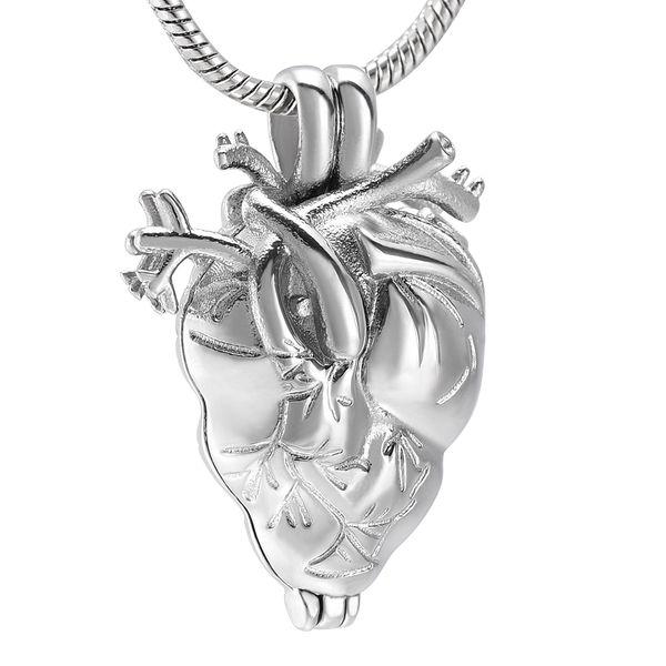 AirAh18 Anatomico Cuore Urna, cremazione gioielli in ciondolo collana per collane porta ceneri, cremazione memorial Keepsake medaglione