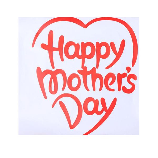 1 Hoja Etiqueta de Globo Colorfast Preciosa Feliz Día de la Madre Patrón de Corazón Autoadhesiva Decoración Calcomanías de PVC Suministros de Fiesta