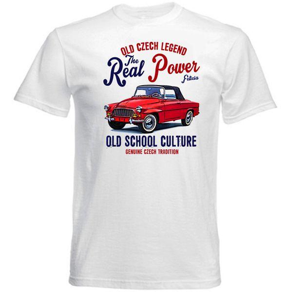 VINTAGE CZECH SKODA FELICIA CAR - NEW COTTON T-SHIRT colour jersey Print t shirt