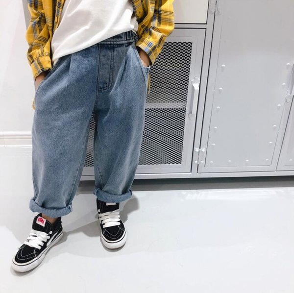 2019 vente chaude filles garçons pantalons en jean automne mode enfants pantalons en jean 2-7 t px464