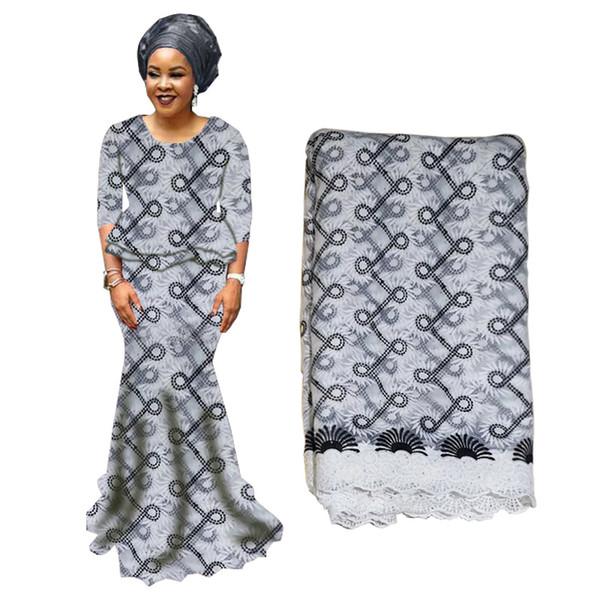 Afrikanische Tüll Stoff bestickt nigerianischen Schnürsenkel Stoff hoher Qualität Schweizer Baumwollspitze Stoff für Hochzeitsfeier