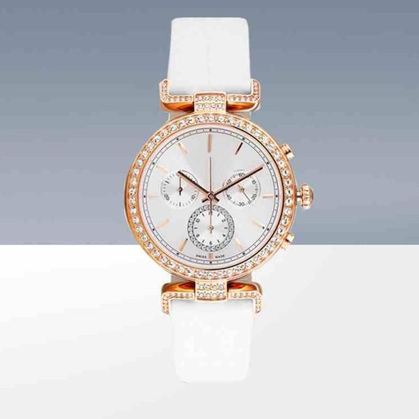 Novíssimo modelo mulheres relógios pulseira de couro colorido relógio de quartzo senhora movimento relógio de pulso Relógios De Marca Mujer japão preço por atacado
