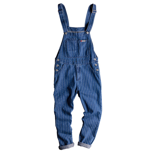 Mens Jumpsuits Womens Blue Denim Bib Couple Overalls British Style Jeans