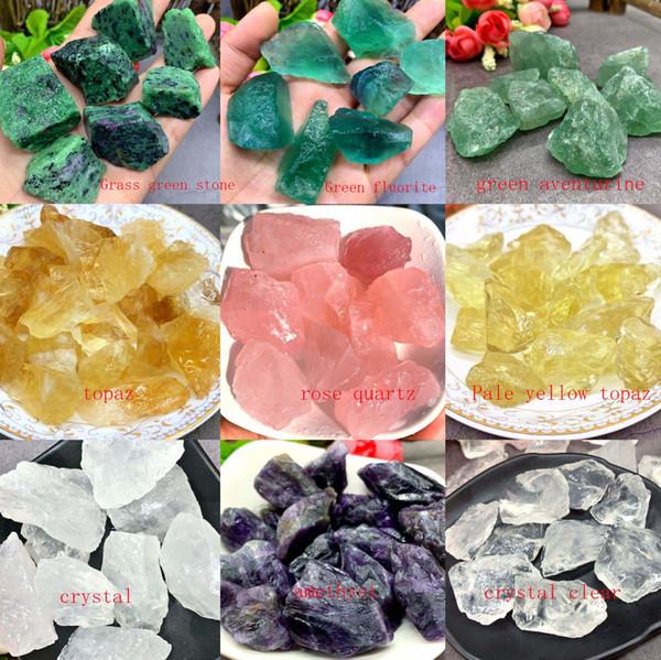 100g Natural Raw Quartz Crystal Rough Fluorite Amethyst Stone Specimen for Tumbling, Polishing, Wicca & Reiki Crystal Healing