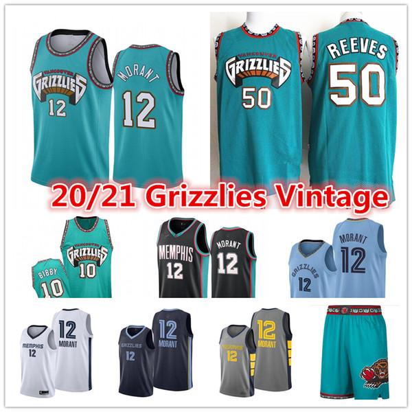 top popular 2021 Ja 12 Morant Men's Vintage Memphis