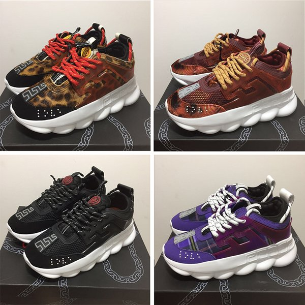 8c7f40005ef1 Designer Chain Reaction men Casual shoes Luxury Brand women sneakers black  orange blue green red Sole fashion height increasing shoe