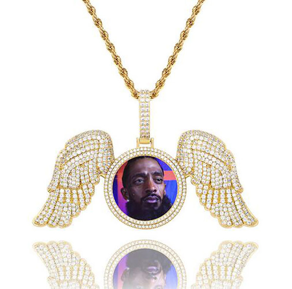 Gold Diamond Wings+Rope Chain