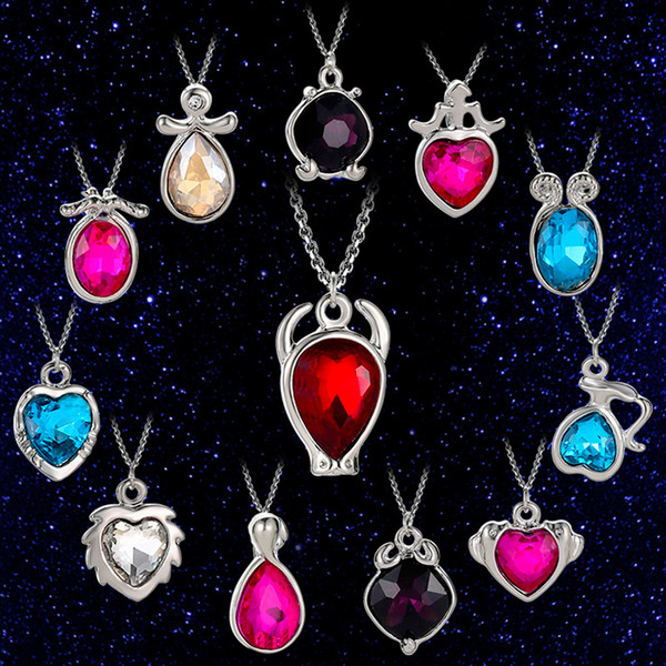 Glass Necklace Galaxy 12 Constellation Design Zodiac Sign Horoscope Astrology Pendant Necklace For Women Men Cabochon Necklaces