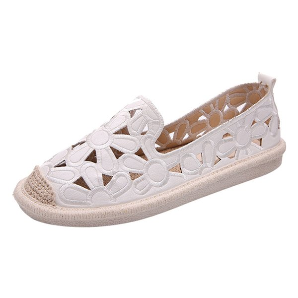 Dress Shoes Muqgew Women Ladies Fashion Slip On Round Toe Hollow Out Loafers Casual Single Newest Style #1202