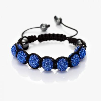 Fashion Jewelry New Mix Colors Sales Promotion 10mm Crystal AB Clay Disco 9 Balls Bracelets