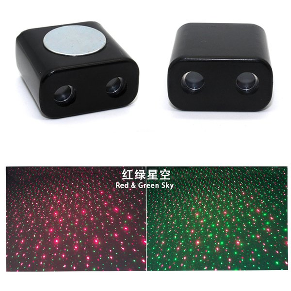 Nueva Llegada Decoración Luz Coche USB LED Lámpara Rojo Azul Verde Estrella Sky Light Proyector Auto Atmósfera Lámpara Habitación Interior Luz