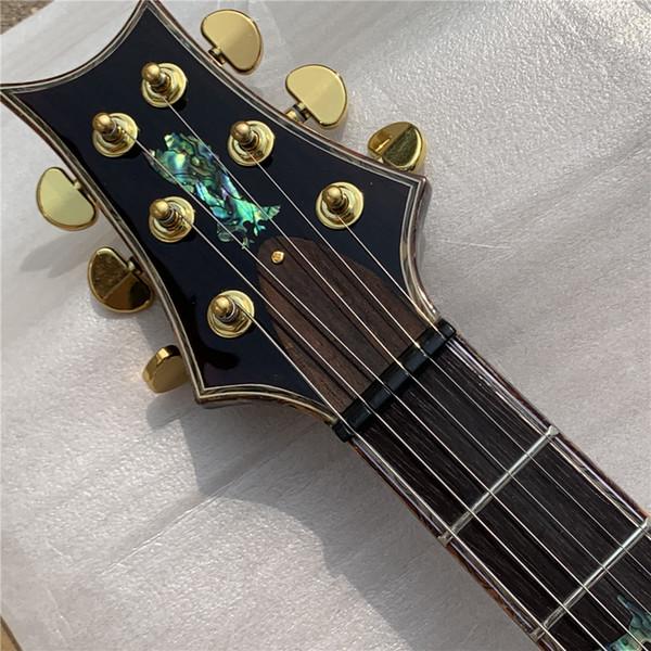 무료 배송 YL-PR5S 일렉트릭 기타 솔리드 ASH 최고 골드 하드웨어 트레몰로 브릿지 바 버드 인레이