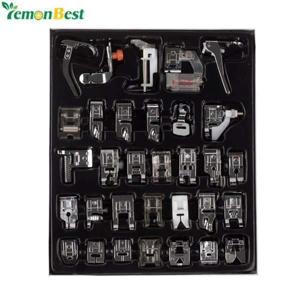 presser 32pcs Home Domestic Sewing Presser Foot Feet Kit Set With Box For Brother Singer Janome DIY Sewing Machine Accessories