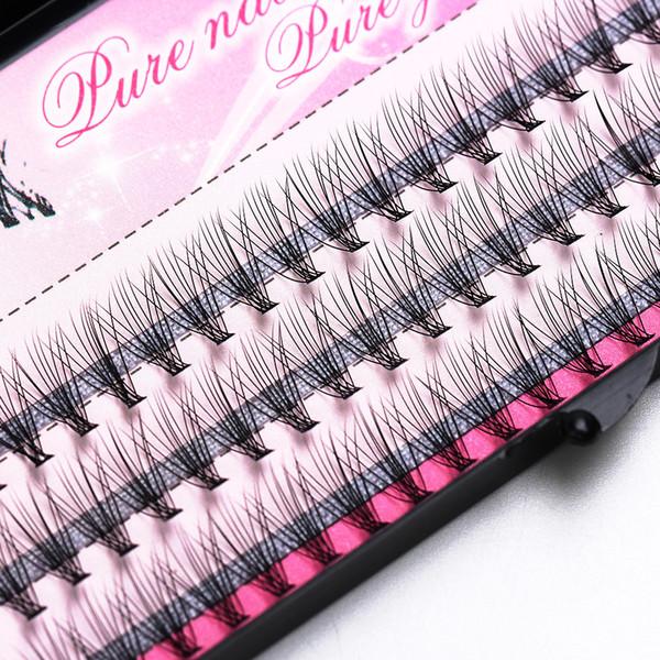 Fashion 60pcs Professional Makeup Individual Cluster Eye Lashes Grafting Fake False Eyelashes Free Shipping D19011701
