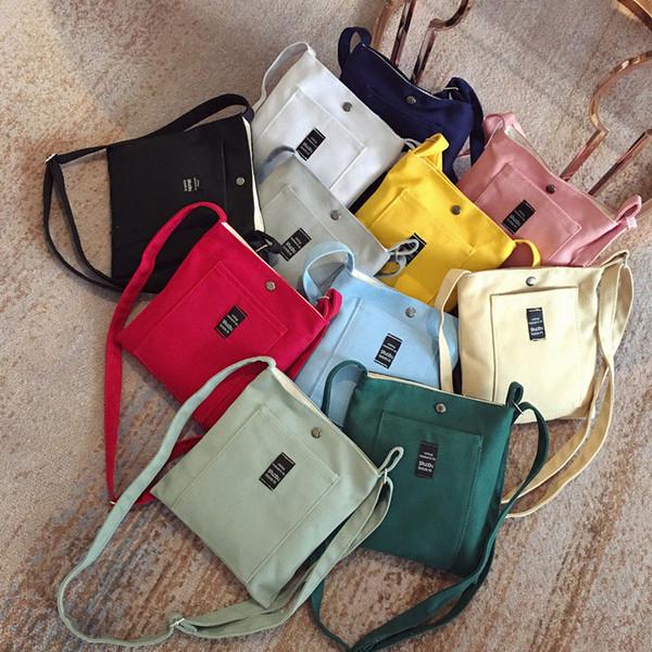 2018 bayan kanvas çanta Mini tek omuz çantası crossbody messenger çanta kadın kova çanta kore lüks kadın SD-010