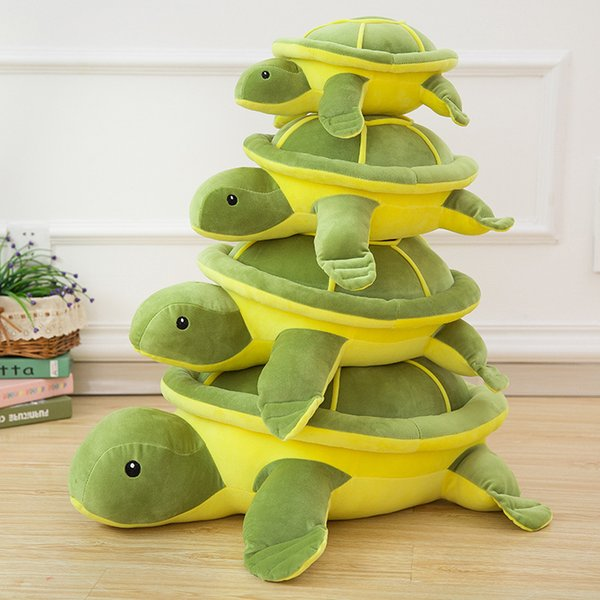 Sea Turtle Plushie Toy Lovely Floor Huge Animals Stuffed Doll Ocean Aquatic Green Turtle Toy Kids Gift 38/46/55/65/85cm