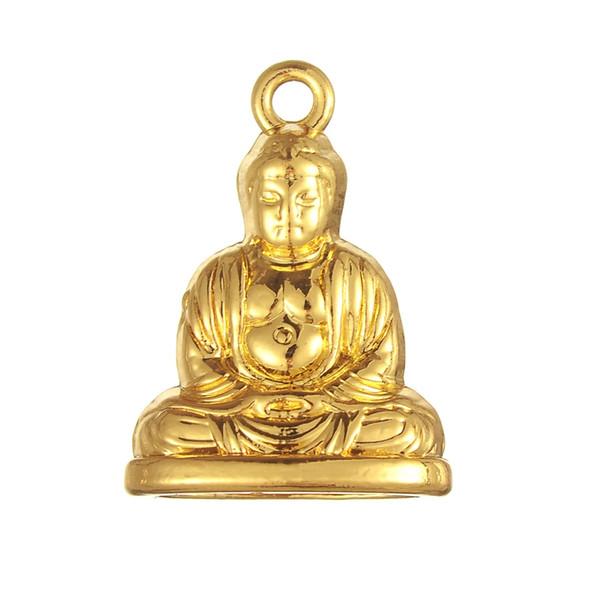 Anzuelo venta al por mayor de moda al por menor 5 unids Religiou aleación de zinc chapado en oro de Buda colgante para la joyería de DIY que hace