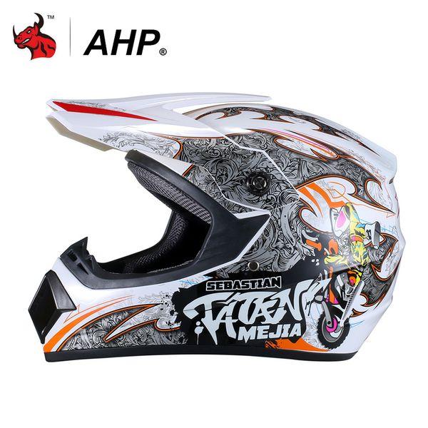 AHP Motorcross Casco Moto Motorradhelm Motorrad Dirt Bike ATV MTB Downhill Racing Integralhelme AHP Motorcross Helm
