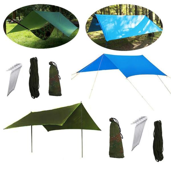 3 colori impermeabile stuoia di campeggio 3 * 3 m materasso tenda esterna multifunzione tenda da campeggio telo da picnic stuoia campeggio telo riparo CCA11703 5 pz