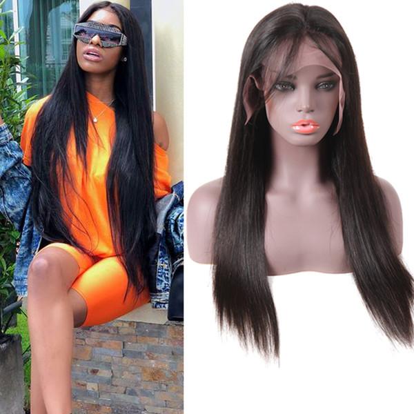 10A visone brasiliana dei capelli del merletto anteriore del merletto parrucche dei capelli umani per le donne nere pre pizzicato brasiliano ramy dritto 360 piena parrucca anteriore del merletto