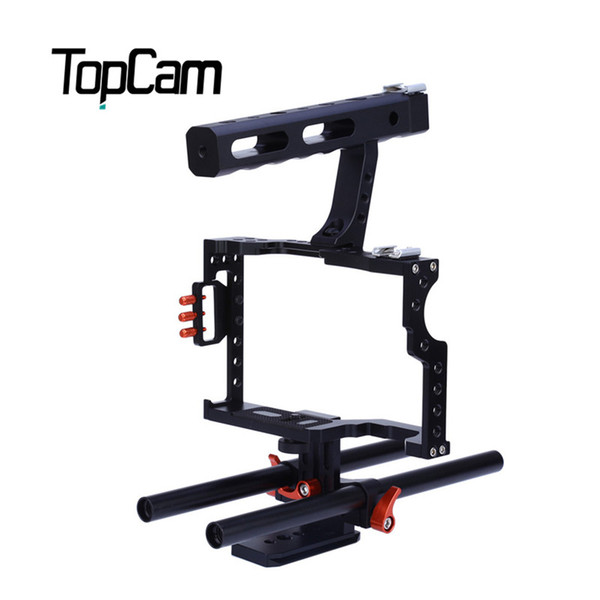 Freeshipping Portable Aluminum Alloy CS-V5 Standard 15MM Rod Video Stabilizer Aluminum Camera Cage Rig for Micro DSLR