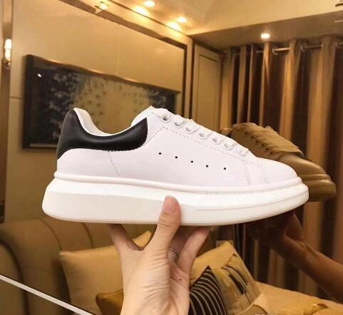 fbba9f0a 2019 Designer Loveres Casual fitness Shoes New Mens Womens Fashion White  Black Leather Platform Low Top Shoes Flat Casual Shoes Lady pink