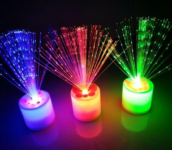 Color Las LED Sin De Vela Fibra La Colores Blanco De Siete La Completa Electrónica Humo Estrella Compre Ventas De Luz Óptica Vela Nocturna Variable rCexdBo