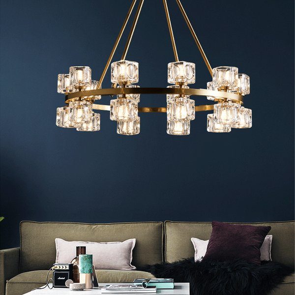 European Luxury Crystal Chandelier Pendant Lights Gold Copper Chandeliers  Lighting For Living Room Guest Bedroom Dinning Room Blown Glass Chandelier  ...