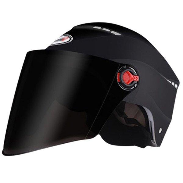 Nouveau casque de moto pare-soleil demi-visage anti-uv sécurité casque de cyclisme pour hommes femmes