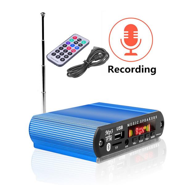 Fai da te Radio Car Handsfree registrazione Lettore MP3 Bluetooth 5.0 Ricevitore 5-12V Car Kit decodificatore Consiglio di FM Radio TF USB da 3,5 mm audio AUX