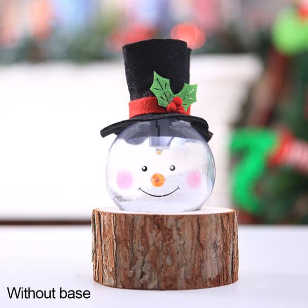 Şık Glow Dekoratif Aydınlatma Lambası Ağacı Sevimli Köpük Noel Topu Dekor Parçacıklar Karikatür