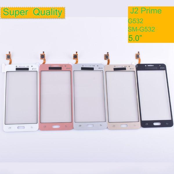 Samsung Galaxy J2 Başbakan G532 Için dokunmatik SM-G532 Dokunmatik Ekran Digitizer Paneli Sensörü Ön Cam Dış Lens