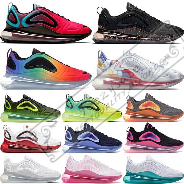 Nike Air Max 720 Erkekler Için 2019 Volt Gelecek Koşu Ayakkabıları Gerçek Gurur Olabilir Volt Paskalya Paketi Womens Üçlü Beyaz Siyah Kuzey Işıkları Günbatımı Spor Sneakers 36-45