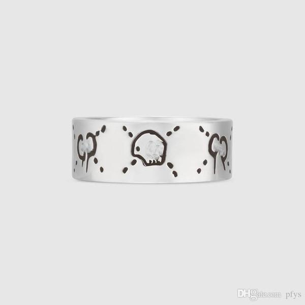 Anello vintage in argento sterling 925 studentessa marea anello maschile singolo anello in argento tailandese da uomo e da donna coppia modello fatto a mano vecchio anello regalo