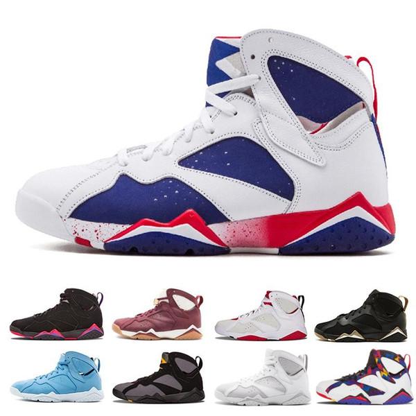 2019 hot sale men 7 basketball shoes men raptor guyz Hares Olympic Bordeaux GG Cardinal Raptor French Blue Citrus Sports Sneakers size 41-47