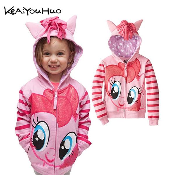 2018 New Spring Autumn My Girls Coats Cute Hooded Boys Jackets Little Children Outerwear Kids Clothes Cartoon Girl Jackets