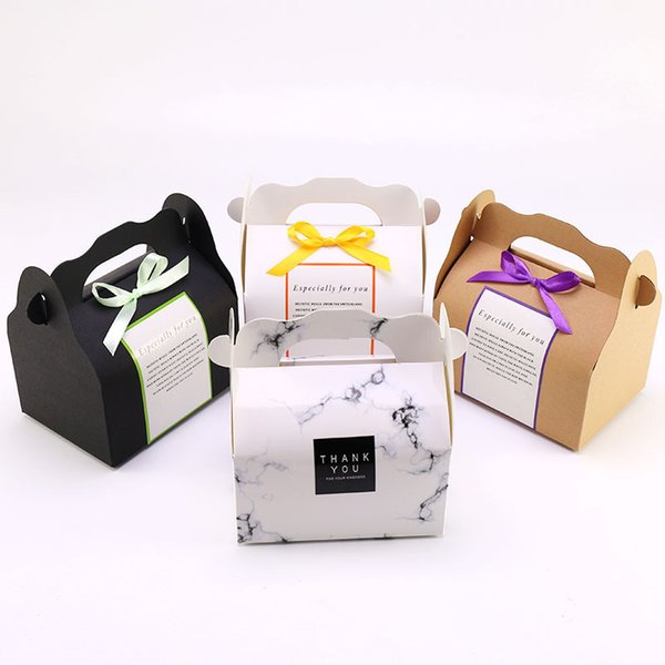 Portable Cake Roll Box Cupcake Pudding Swiss Roll Baking Paper Box Oil-proof Pastry Packing Box WB488
