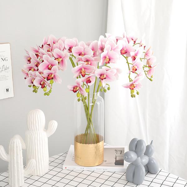 Impression 3D 7 Têtes Papillon Orchidée De Mariage Maison Simulation Fleur Fleurs Artificielles Orchidée De Mariage Décoration Flores